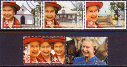 British Indian Ocean Territory 1992 SG 119-23 Compl.set Used 40th Anniv Of QE II Accession - British Indian Ocean Territory (BIOT)