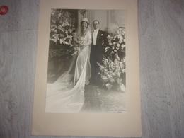 Noblesse Mariage France De Bernard De La Fosse Et Jean D Andigné 1939 Photo Paris Peeters - Célébrités