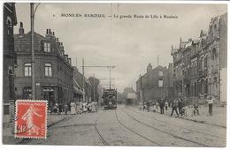 CPA NORD 59 MONS-EN-BAROEUL  Rue Florimond Delmer  édit PH N°2  ? Tramway - France