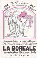 """MILITARIA. GUERRE 1914-18. HUMOUR PATRIOTIQUE ET PUBLICITE. """" LA BOREALE """" . UNE RÉVOLUTION DANS LE BLANCHISSAGE - War 1914-18"""