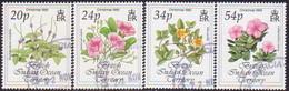 British Indian Ocean Territory 1993 SG 141-44 Compl.set Used Christmas. Flowers - British Indian Ocean Territory (BIOT)