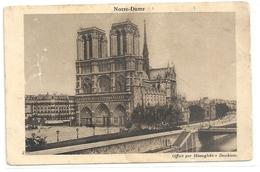 """PARIS . NOTRE-DAME . CARTE-PUB """" DESCHIENS """" 1 TRACE DE PLI . NON ECRITE 2 SCANES - France"""