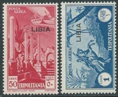 1937 LIBIA POSTA AEREA 2 VALORI MNH ** - RA23-4 - Libyen
