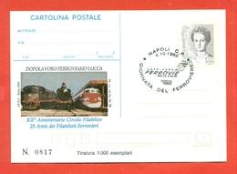 CARTOLINA POSTALE I.P.Z.S-C.P.  I.P.Z.S.--MARCOFILIA-ANNIVERSARIO FILFER - ANNULLATO A NAPOLI - Interi Postali