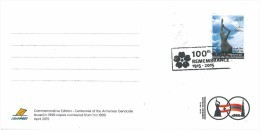 Lebanon NEW 2015 MAXI CARD FDC - Centennial Of The Armenian Genocide - 100th REMEMBRANCE 1915-2015 - ARMENIA - Lebanon