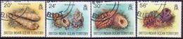 British Indian Ocean Territory 1996 SG 176-79 Compl.set Used Sea Shells - Britisches Territorium Im Indischen Ozean