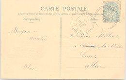CARTE. 1905. BLANC. TYPE 1884. PUY-DE-DOME. RIS/ 2 - 1921-1960: Periodo Moderno