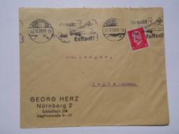 1929 DR Brief Freistempel Nürnberg Benutzt Die Luftpost - Storia Postale