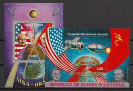 Guinée  équatoriale - 1975 - N°Mi. Bloc 172 à 173 - Coopération Spatiale - Neuf Luxe ** / MNH / Postfrisch - Afrika