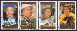 British Indian Ocean Territory 1996 SG 180-83 Compl.set Used 70th Birthday Of Queen Elizabeth II - British Indian Ocean Territory (BIOT)