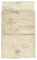 B25 - Belgium - 1823 - Letter With Content - Floreffe To Philipeville - Cancel Namen - 1815-1830 (Holländische Periode)