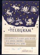 POLAND 1971 TELEGRAM SPECIAL OCCASION SIGNS OF THE ZODIAC DARK BLUE USED LX 17 TÉLÉGRAMME TELEGRAMM TELEGRAMA TELEGRAMMA - 1944-.... Repubblica