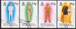 British Indian Ocean Territory 1996 SG 189-92 Compl.set Used Uniforms - British Indian Ocean Territory (BIOT)
