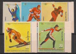 Guinée  équatoriale - 1978 - N°Mi. 1308 à 1312 - Lake Placid / Olympics - Neuf Luxe ** / MNH / Postfrisch - Invierno 1980: Lake Placid