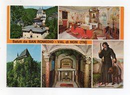 Sanzeno (Trento) - Sauti Dal Santuario Di San Romedio - Cartolina Multipanoramica - Viaggiata Nel 1987 - (FDC16458) - Trento