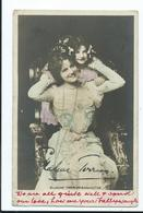 Actors Autographed Signed Mrs Elaine Terriss And Daughter   Publ. Unknown  Posted 1902 - Entertainers