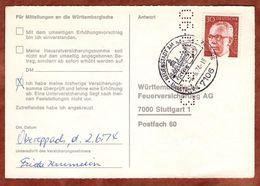 Karte, Heinemann, SoSt Neuenstadt Am Kocher, Nach Stuttgart 1974 (77451) - BRD