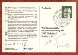 Karte, Heinemann, SoSt Schwaebisch Hall, Nach Stuttgart 1972 (77452) - [7] République Fédérale
