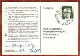 Karte, Heinemann, SoSt Heidenheim, Nach Stuttgart 1971 (77453) - BRD