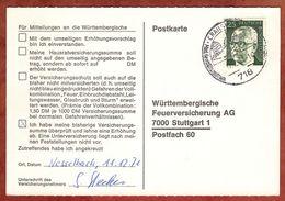 Karte, Heinemann, SoSt Crailsheim, Nach Stuttgart 1971 (77454) - BRD