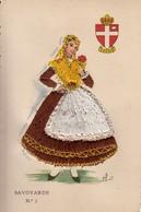 Costume Folklorique De La Savoie - Robe Tissée - Savoyarde N° 1 - CPM Au Format 9x14 Neuve - Costumes