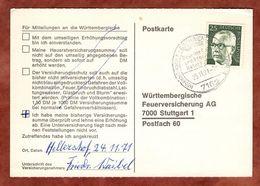 Karte, Heinemann, SoSt Gschwend, Nach Stuttgart 1971 (77455) - BRD