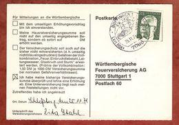 Karte, Heinemann, SoSt Bopfingen, Nach Stuttgart 1971 (77456) - BRD