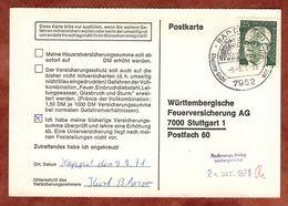 Karte, Heinemann, SoSt Bad Buchau, Nach Stuttgart 1971 (77457) - BRD
