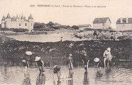 CPA PORNICHET (44) PLAGE DU CHÂTEAU - PÊCHE A LA CREVETTE - ANIMEE - Pornichet
