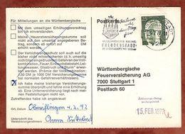 Karte, Heinemann, MS Freudenstadt, Nach Stuttgart 1972 (77459) - BRD