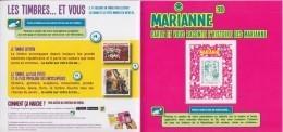 = Encart Cartonné 1 Timbre Autocollant Marianne Et La Jeunesse TVP LV 20g Lecture électronique En 3D Collector N°223 - Collectors