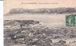 CPA ILE DE NOIRMOUTIER (85) PLAGE DES SOUZEAUX à MAREE BASSE - ANIMEE - Ile De Noirmoutier