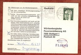 Karte, Heinemann, MS Partnerstaedte Bietigheim, Nach Stuttgart 1972 (77460) - BRD