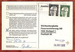 Karte, Heinemann, MS Postfach Biberach, Nach Stuttgart 1971 (77462) - [7] République Fédérale