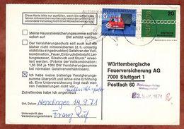 Karte, Europa U.a., MS Schuhstadt Tuttlingen, Nach Stuttgart 1971 (77463) - BRD