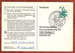 Karte, Unfallverhuetung, SoSt Sulzbach, Nach Stuttgart 1972 (77464) - BRD