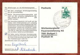 Karte, Unfallverhuetung, SoSt Bad Wurzach, Nach Stuttgart 1972 (77465) - BRD