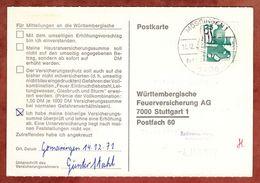 Karte, Unfallverhuetung, SoSt Moessingen, Nach Stuttgart 1971 (77466) - BRD