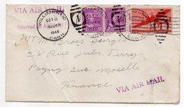 USA-1948--Lettre De WILLIMANTIC (Conn) Pour PAGNY SUR MOSELLE (France)--timbres--cachets - United States