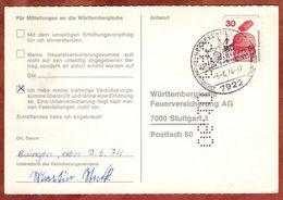 Karte, Unfallverhuetung, SoSt Herbrechtingen, Nach Stuttgart 1974 (77470) - BRD