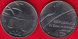 San Marino 100 Lire 1990 Km#254 UNC - San Marino