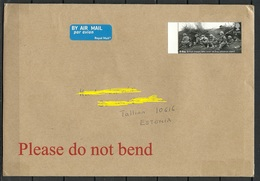 GREAT BRITAIN 2019 Air Mail Cover To Estonia D-Day WWII Stamp Cancelled By Hand - 1952-.... (Elizabeth II)