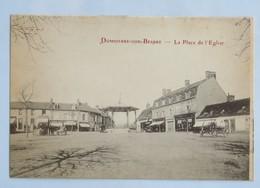 C. P. A. : 03 DOMPIERRE SUR BESBRE : La Place De L'Eglise, Animé - France