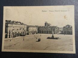 19968) CUNEO PIAZZA VITTORIO EMANUELE VIAGGIATA 1924 - Cuneo