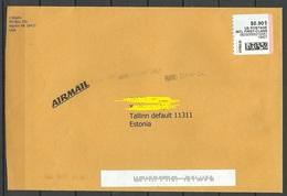 USA 2008 Air Mail Cover To ESTONIA - 2001-10