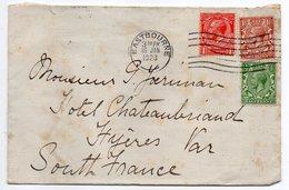 U.K --1923--Lettre De EASTBOURNE  Pour  HYERES-83 (France )-timbres--cachet - 1902-1951 (Rois)