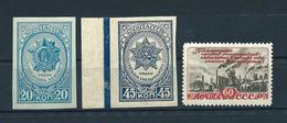 USSR, 1944-1948; Lot Of 3 Unused Stamps ** MNH MiNr 902 B, 942 B, 1266 II, See Description - 1923-1991 URSS