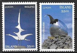 Islande 1993 N° 739/740 Neufs Europa Art Contemporain - 1944-... Repubblica