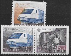 Suède 1988 N°1477/1478a Neufs Europa Transports Trains - Nuovi