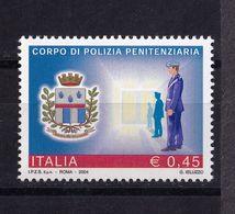 Italy, 2004- Le Istituzioni. 15ima Serie, Polizia Penitenziaria. MintNH - 6. 1946-.. Republic